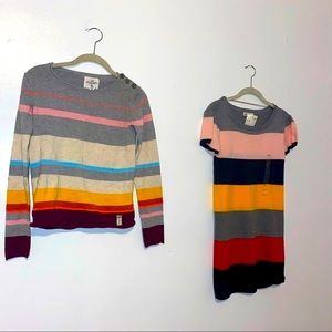 NEW H&M 2 piece sweater dress set kids girls 14